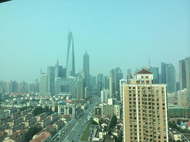 上海から。